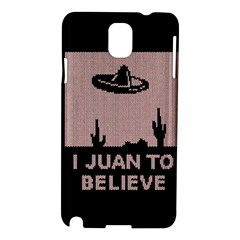 I Juan To Believe Ugly Holiday Christmas Black Background Samsung Galaxy Note 3 N9005 Hardshell Case by Onesevenart