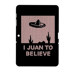 I Juan To Believe Ugly Holiday Christmas Black Background Samsung Galaxy Tab 2 (10 1 ) P5100 Hardshell Case  by Onesevenart