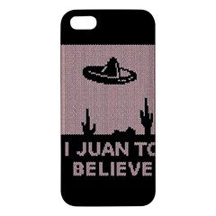 I Juan To Believe Ugly Holiday Christmas Black Background Iphone 5s/ Se Premium Hardshell Case by Onesevenart