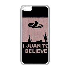 I Juan To Believe Ugly Holiday Christmas Black Background Apple Iphone 5c Seamless Case (white) by Onesevenart