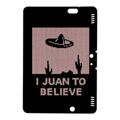 I Juan To Believe Ugly Holiday Christmas Black Background Kindle Fire Hdx 8 9  Hardshell Case by Onesevenart