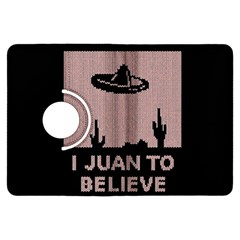 I Juan To Believe Ugly Holiday Christmas Black Background Kindle Fire Hdx Flip 360 Case by Onesevenart