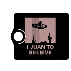I Juan To Believe Ugly Holiday Christmas Black Background Kindle Fire Hdx 8 9  Flip 360 Case by Onesevenart