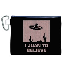 I Juan To Believe Ugly Holiday Christmas Black Background Canvas Cosmetic Bag (xl) by Onesevenart