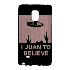 I Juan To Believe Ugly Holiday Christmas Black Background Galaxy Note Edge by Onesevenart
