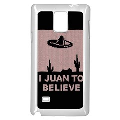 I Juan To Believe Ugly Holiday Christmas Black Background Samsung Galaxy Note 4 Case (white) by Onesevenart