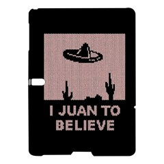 I Juan To Believe Ugly Holiday Christmas Black Background Samsung Galaxy Tab S (10 5 ) Hardshell Case  by Onesevenart