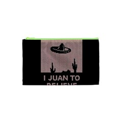 I Juan To Believe Ugly Holiday Christmas Black Background Cosmetic Bag (xs) by Onesevenart