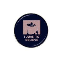 I Juan To Believe Ugly Holiday Christmas Blue Background Hat Clip Ball Marker (4 Pack)