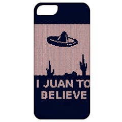 I Juan To Believe Ugly Holiday Christmas Blue Background Apple Iphone 5 Classic Hardshell Case by Onesevenart