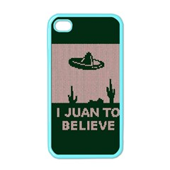 I Juan To Believe Ugly Holiday Christmas Green Background Apple Iphone 4 Case (color) by Onesevenart