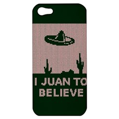 I Juan To Believe Ugly Holiday Christmas Green Background Apple Iphone 5 Hardshell Case by Onesevenart