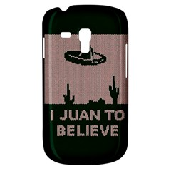 I Juan To Believe Ugly Holiday Christmas Green Background Samsung Galaxy S3 Mini I8190 Hardshell Case by Onesevenart