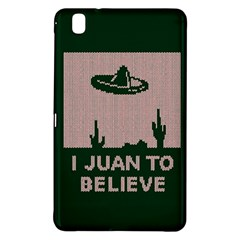 I Juan To Believe Ugly Holiday Christmas Green Background Samsung Galaxy Tab Pro 8 4 Hardshell Case by Onesevenart
