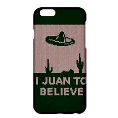I Juan To Believe Ugly Holiday Christmas Green Background Apple Iphone 6 Plus/6s Plus Hardshell Case by Onesevenart
