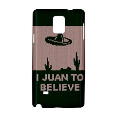 I Juan To Believe Ugly Holiday Christmas Green Background Samsung Galaxy Note 4 Hardshell Case by Onesevenart