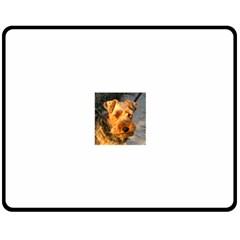 Welch Terrier Double Sided Fleece Blanket (Medium)  by TailWags
