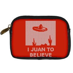 I Juan To Believe Ugly Holiday Christmas Red Background Digital Camera Cases by Onesevenart