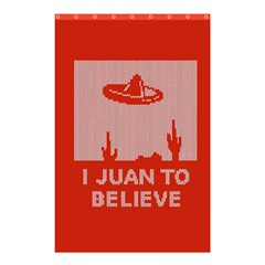 I Juan To Believe Ugly Holiday Christmas Red Background Shower Curtain 48  X 72  (small)  by Onesevenart