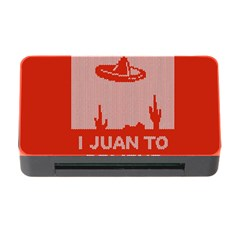 I Juan To Believe Ugly Holiday Christmas Red Background Memory Card Reader With Cf by Onesevenart