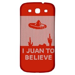 I Juan To Believe Ugly Holiday Christmas Red Background Samsung Galaxy S3 S Iii Classic Hardshell Back Case by Onesevenart