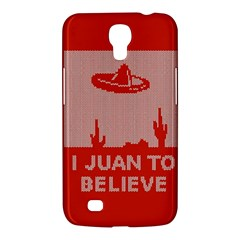 I Juan To Believe Ugly Holiday Christmas Red Background Samsung Galaxy Mega 6 3  I9200 Hardshell Case by Onesevenart
