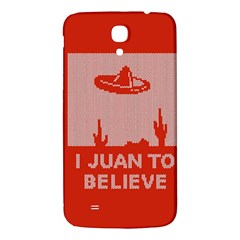 I Juan To Believe Ugly Holiday Christmas Red Background Samsung Galaxy Mega I9200 Hardshell Back Case by Onesevenart