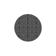 Black And White Tribal Pattern Golf Ball Marker by dflcprints