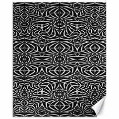 Black And White Tribal Pattern Canvas 11  X 14   by dflcprints