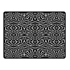Black And White Tribal Pattern Fleece Blanket (small) by dflcprints