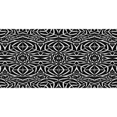 Black And White Tribal Pattern You Are Invited 3d Greeting Card (8x4) by dflcprints