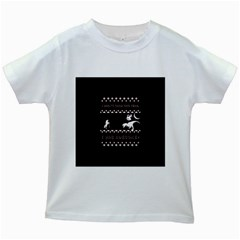 I Wasn t Good This Year, I Was Awesome! Ugly Holiday Christmas Black Background Kids White T Shirts by Onesevenart
