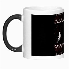 I Wasn t Good This Year, I Was Awesome! Ugly Holiday Christmas Black Background Morph Mugs by Onesevenart