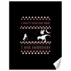I Wasn t Good This Year, I Was Awesome! Ugly Holiday Christmas Black Background Canvas 12  X 16   by Onesevenart