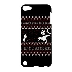 I Wasn t Good This Year, I Was Awesome! Ugly Holiday Christmas Black Background Apple Ipod Touch 5 Hardshell Case by Onesevenart