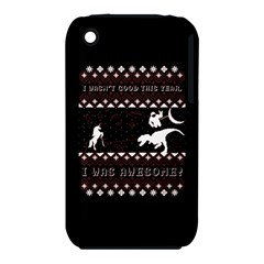 I Wasn t Good This Year, I Was Awesome! Ugly Holiday Christmas Black Background Apple Iphone 3g/3gs Hardshell Case (pc+silicone) by Onesevenart