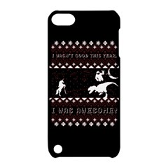 I Wasn t Good This Year, I Was Awesome! Ugly Holiday Christmas Black Background Apple Ipod Touch 5 Hardshell Case With Stand by Onesevenart