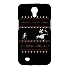 I Wasn t Good This Year, I Was Awesome! Ugly Holiday Christmas Black Background Samsung Galaxy Mega 6 3  I9200 Hardshell Case by Onesevenart