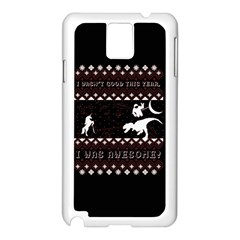 I Wasn t Good This Year, I Was Awesome! Ugly Holiday Christmas Black Background Samsung Galaxy Note 3 N9005 Case (white) by Onesevenart