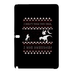I Wasn t Good This Year, I Was Awesome! Ugly Holiday Christmas Black Background Samsung Galaxy Tab Pro 10 1 Hardshell Case by Onesevenart