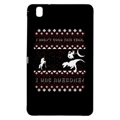 I Wasn t Good This Year, I Was Awesome! Ugly Holiday Christmas Black Background Samsung Galaxy Tab Pro 8 4 Hardshell Case by Onesevenart