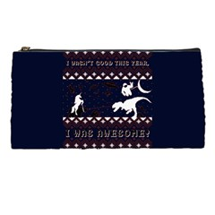 I Wasn t Good This Year, I Was Awesome! Ugly Holiday Christmas Blue Background Pencil Cases by Onesevenart