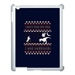 I Wasn t Good This Year, I Was Awesome! Ugly Holiday Christmas Blue Background Apple Ipad 3/4 Case (white) by Onesevenart