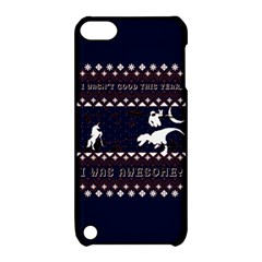 I Wasn t Good This Year, I Was Awesome! Ugly Holiday Christmas Blue Background Apple Ipod Touch 5 Hardshell Case With Stand by Onesevenart