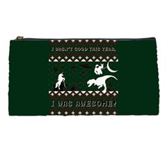 I Wasn t Good This Year, I Was Awesome! Ugly Holiday Christmas Green Background Pencil Cases by Onesevenart