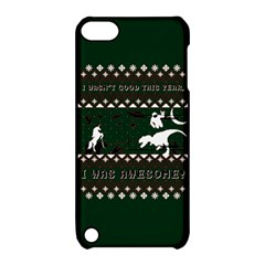I Wasn t Good This Year, I Was Awesome! Ugly Holiday Christmas Green Background Apple Ipod Touch 5 Hardshell Case With Stand by Onesevenart