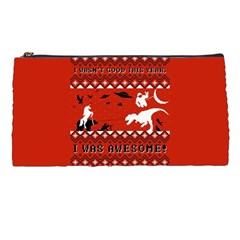I Wasn t Good This Year, I Was Awesome! Ugly Holiday Christmas Red Background Pencil Cases by Onesevenart