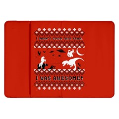 I Wasn t Good This Year, I Was Awesome! Ugly Holiday Christmas Red Background Samsung Galaxy Tab 8 9  P7300 Flip Case by Onesevenart