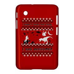 I Wasn t Good This Year, I Was Awesome! Ugly Holiday Christmas Red Background Samsung Galaxy Tab 2 (7 ) P3100 Hardshell Case