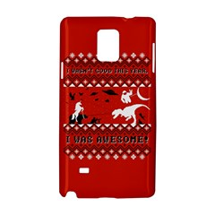I Wasn t Good This Year, I Was Awesome! Ugly Holiday Christmas Red Background Samsung Galaxy Note 4 Hardshell Case by Onesevenart